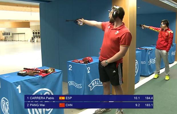 Pablo Carrera Campeon Copa del Mundo Pistola Libre