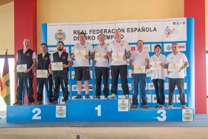 Primer pódium mixto en Campeonato de España 9 mm.